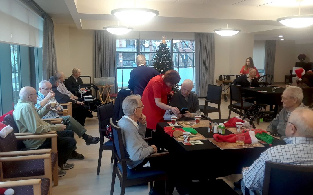 Xmas party organized by Basilian Fathers in assisted living